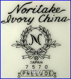 NORITAKE china PRELUDE 7570 pattern 66-pc SET SERVICE for TWELVE (12)
