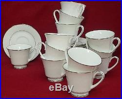 NORITAKE china RANIER 6909 pattern CUP & SAUCER Set of TWELVE (12)