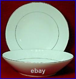 NORITAKE china RANIER 6909 pattern Set of 2 Soup or Salad Bowls 7-1/2