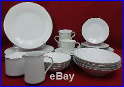 NORITAKE china REINA pattern #6450Q 31-piece SET SERVICE for 4 with fruit & soup