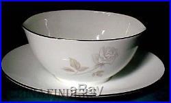 NORITAKE china ROSAY #6216 pattern 7-piece HOSTESS SET gravy platter bowl sugar