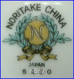 NORITAKE china ROSA 5460 pattern 7-piece HOSTESS SERVING SET