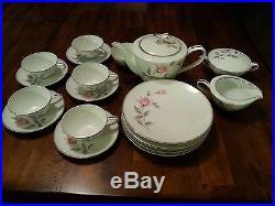 NORITAKE china ROSEMARIE (6044 pattern) tea serving set