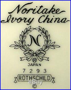 NORITAKE china ROTHSCHILD 7293 pattern 60-pc SET SERVICE for 12 place Settings