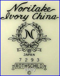 NORITAKE china ROTHSCHILD 7293 pattern 60-piece SET SERVICE for 12