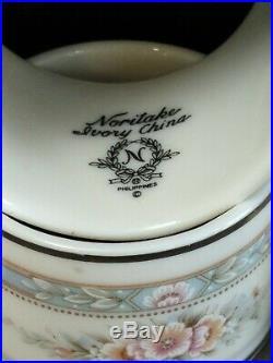 NORITAKE china ROTHSCHILD pattern Napkin Ring Set (6)