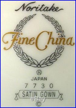 NORITAKE china SATIN GOWN 7730 pattern 60-piece SET SERVICE for Twelve (12)
