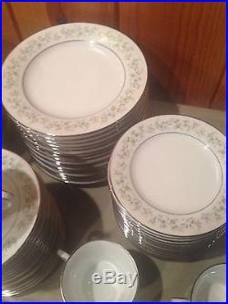 NORITAKE china SAVANNAH 2031 pattern 86-pc SET for 15+ fruits, soups, serving