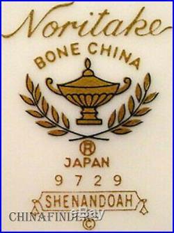 NORITAKE china SHENANDOAH 9729 pattern 60-piece SET SERVICE for 12 place Setting