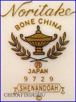 NORITAKE china SHENANDOAH 9729 pattern 60-piece SET SERVICE for TWELVE (12)