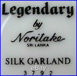 NORITAKE china SILK GARLAND pattern 3792 20-piece SET SERVICE for Four (4)