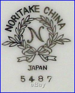 NORITAKE china SILVINE 5487 pattern 82-piece SET SERVICE