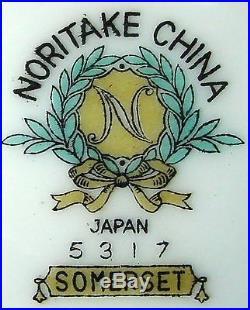 NORITAKE china SOMERSET 5317 pattern 93-piece SET SERVICE for TWELVE (12)