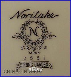 NORITAKE china SPRING GARDEN 2551 pattern 42-pc SET SERVICE for 8