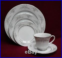 NORITAKE china SWEET LEILANI 3482 pattern 59-piece SET SERVICE for 12 less 1 cup