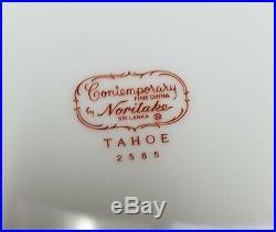 NORITAKE china TAHOE 2585 pattern 60-piece SET SERVICE for 12