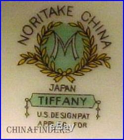NORITAKE china TIFFANY pattern 44-piece SET SERVICE