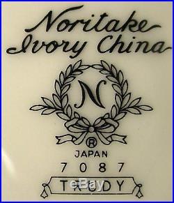 NORITAKE china TRUDY 7087 pattern 60-pc SET SERVICE for TWELVE (12)