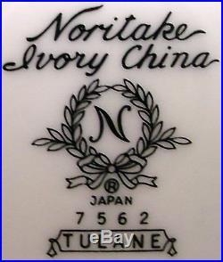 NORITAKE china TULANE 7562 pattern 53-piece SET SERVICE for Twelve (12)