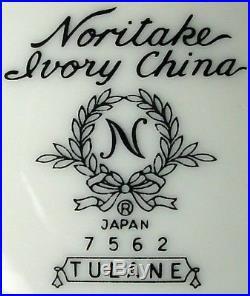 NORITAKE china Tulane 7562 pattern 46-piece SET SERVICE for 8 including serving