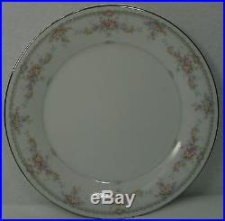 NORITAKE china VERANDA 3015 pattern DINNER PLATE 10-1/2 SET of EIGHT (8)