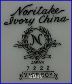 NORITAKE china VICEROY 7222 64-piece SET SERVICE for 8 Separate Dessert Set