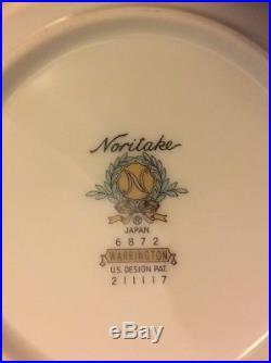 NORITAKE china WARRINGTON 6872 pattern 59-piece SET SERVICE for 8