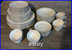 NORITAKE china WHITEHALL 6115 pattern 48-piece SET SERVICE for Eight (8)