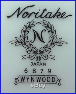NORITAKE china WYNWOOD 6879 pattern 75 piece SET SERVICE for 12 + 4 Serving