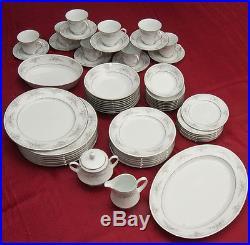 NWT Rare Set Noritake China Sweet Leilani 61 Pc Dinnerware Set Service for 8