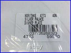 New Lot Of 2 Noritake Silver Palace 5 Piece Place Setting Bone China