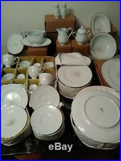 New Noritake Ireland Anticipation China dish Set 2963, 72 Piece Serving for 12