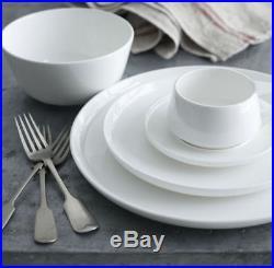 New Noritake Marc Newson Dinner Set 20 Piece White Fine Bone China Durable Plate
