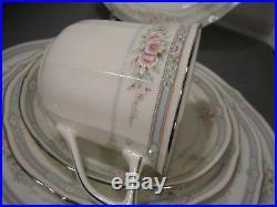 New Noritake Rothschild Ivory 34 pc. China Set Service for Six (6)