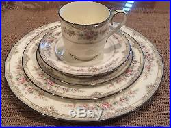 New Noritake Shenandoah 5 Pc Place Setting Bone China 9729 Plate Cup Retired