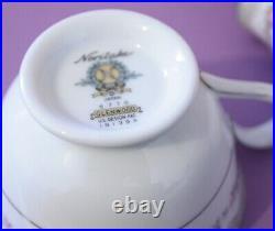 Noritake 22 piece set lot Glenwood 5770 China Tea cups plates salt pepper rose