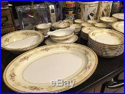 Noritake 57 Piece China Set Farney Design