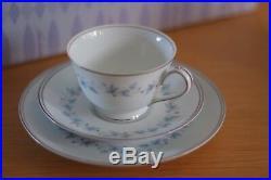 Noritake 6207 Japan Made 18pc Tea Set Plate Cup Saucer, Bone China, In Box