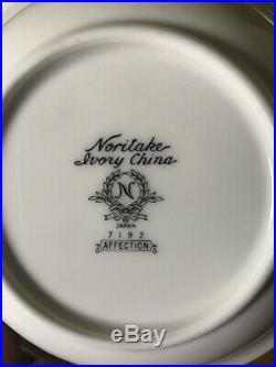Noritake AFFECTION 7192 China Fruit / Dessert Bowls Set Of EIGHT