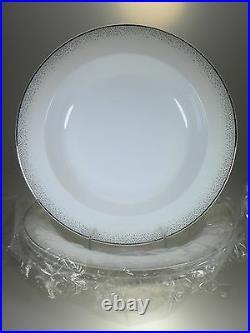 Noritake Alana Platinum Pasta Bowls Set of 4 NEW WITH TAGS Bone China