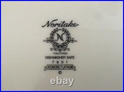 Noritake Ardmore Platinum 30 Piece Set, 6 Five Pc Place Settings-7601 Pristine