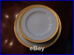 Noritake Aristocrat Gold China SET 8 Dinner 4 Salad Plate BEAUTIFUL DISHES DISH