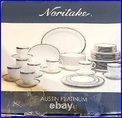 Noritake Austin Platinum 50-Piece Dinnerware Set Service for 8