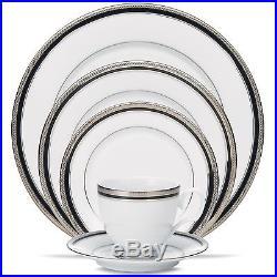 Noritake Austin Platinum 60Pc China Set, Service for 12