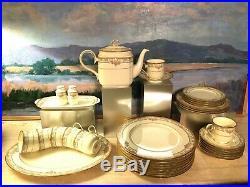 Noritake Barrymore Porcelain China Dinnerware Set Lot Pink 35pc Coffee Pot Plate
