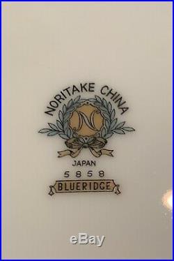 Noritake Blue Ridge China Set Service For 12 Beautiful