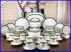 Noritake Bone China PALAIS ROYAL Dinner and Tea Service Set For 10 Person