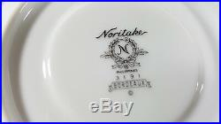 Noritake Bordeaux China Dinnerware set 3191 Gold trim