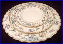 Noritake Brookhollow Bone China 7 Complete 5-piece Place Settings, 6 in Boxes