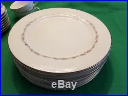 Noritake CRESTMONT Pattern 47 Piece China Set 6013 Dinnerware Service for 8